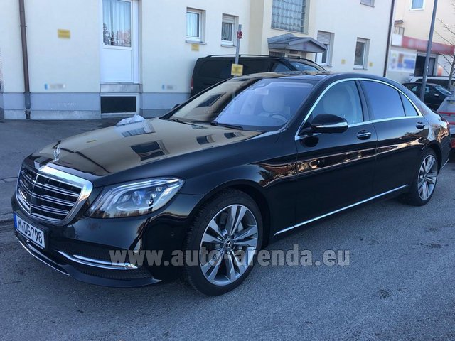 Transfer from Munich Airport General Aviation Terminal GAT to Regensburg by Mercedes-Benz S-Class S400 Long Diesel 4Matic AMG equipment car