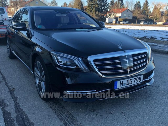 Transfer from Munich Airport to Zurich by Mercedes-Benz S-Class S400 Long Diesel 4Matic AMG equipment car