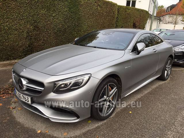 Hire and delivery to Memmingen airport the car Mercedes-Benz S-Class S63 AMG Coupe