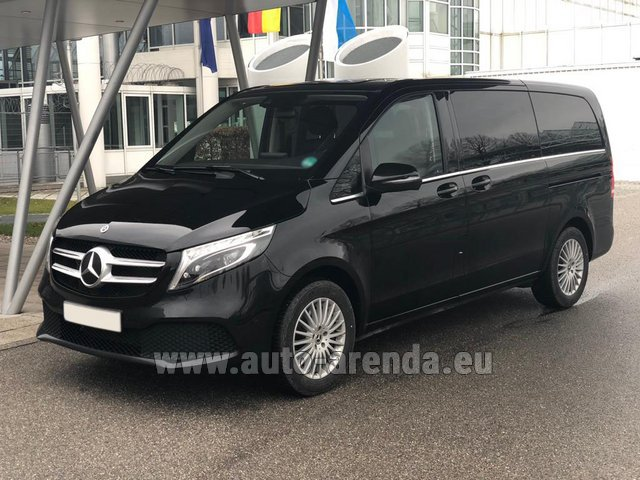 Hire and delivery to Memmingen airport the car Mercedes-Benz V-Class (Viano) V 300 d 4MATIC AMG equipment