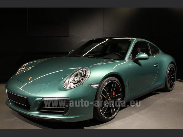 Rental Porsche 911 991 4S Racinggreen Individual Sport Chrono in Essen