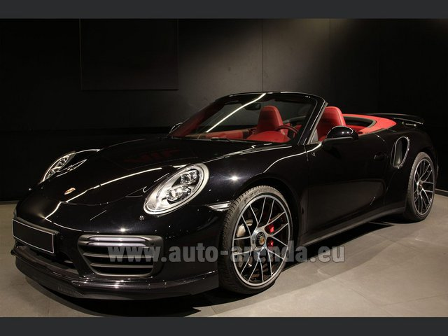 Hire and delivery to Memmingen airport the car: Porsche 911 991 Turbo Cabrio LED Carbon Sitzbelüftung