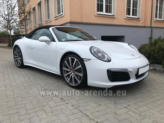 Rental Porsche 911 Carrera 4S Cabrio in Germany