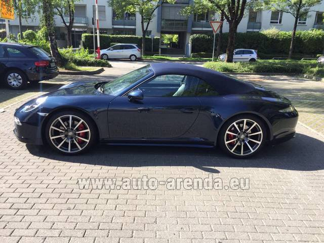 Hire and delivery to Memmingen airport the car: Porsche 911 Carrera 4S Cabriolet