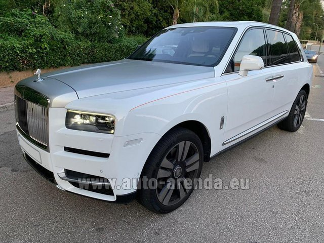 Transfer from Munich Airport General Aviation Terminal GAT to Serfaus by Rolls-Royce Cullinan White car