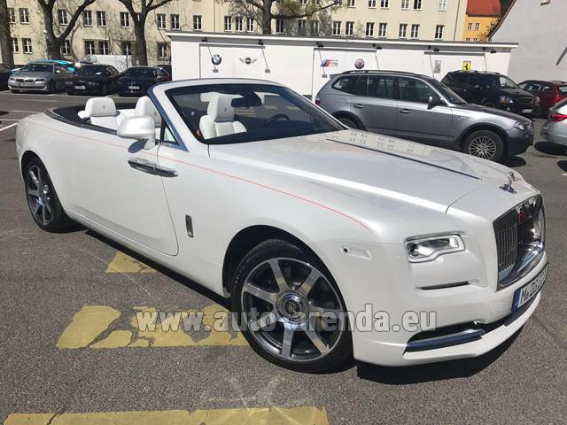 Rental Rolls-Royce Dawn (White) in Leipzig