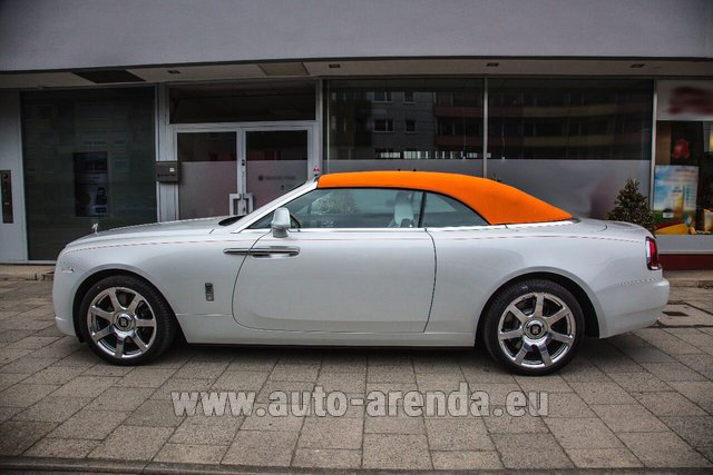Rental Rolls-Royce Dawn White in Frankfurt am Main