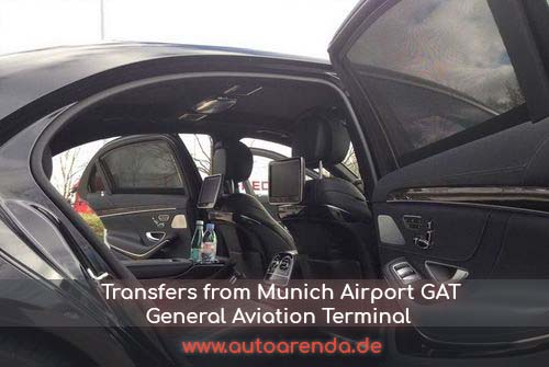 Transfers in Munich Airport General Aviation Terminal GAT in Germany